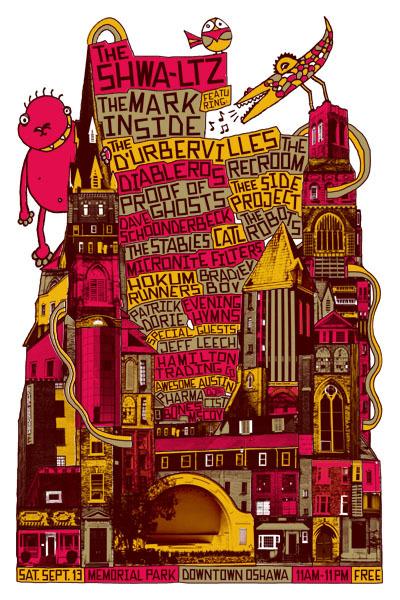 Shwa-ltz 2009, event poster by late artist Michal Majewski.
