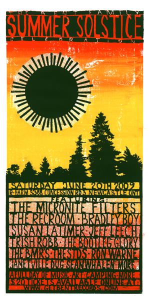 Summer Solstice poster by late artist Michal Majewski.