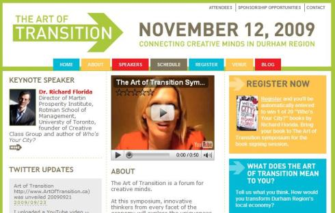 "Newly launched ""The Art of Transition"" web page."