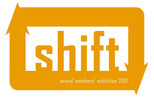 Shift annual members' exhibition logo for 2012