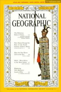 National Geographic cover from February 1961