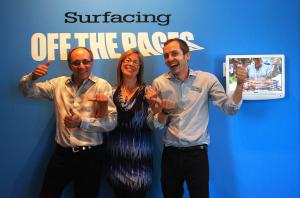 Dave, Laura and Me at Surfacing show opening.