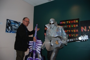 Professor McQuay with  Silver Elvis