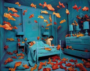 Revenge of the Goldfish, 1981 photograph by Sandy Skoglund