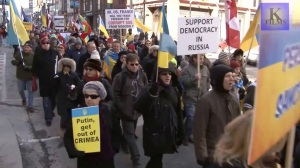Mega March on Yonge Street.